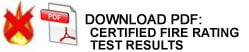 Download PDF: Acoustic Panel Certified Fire Rating Test Results